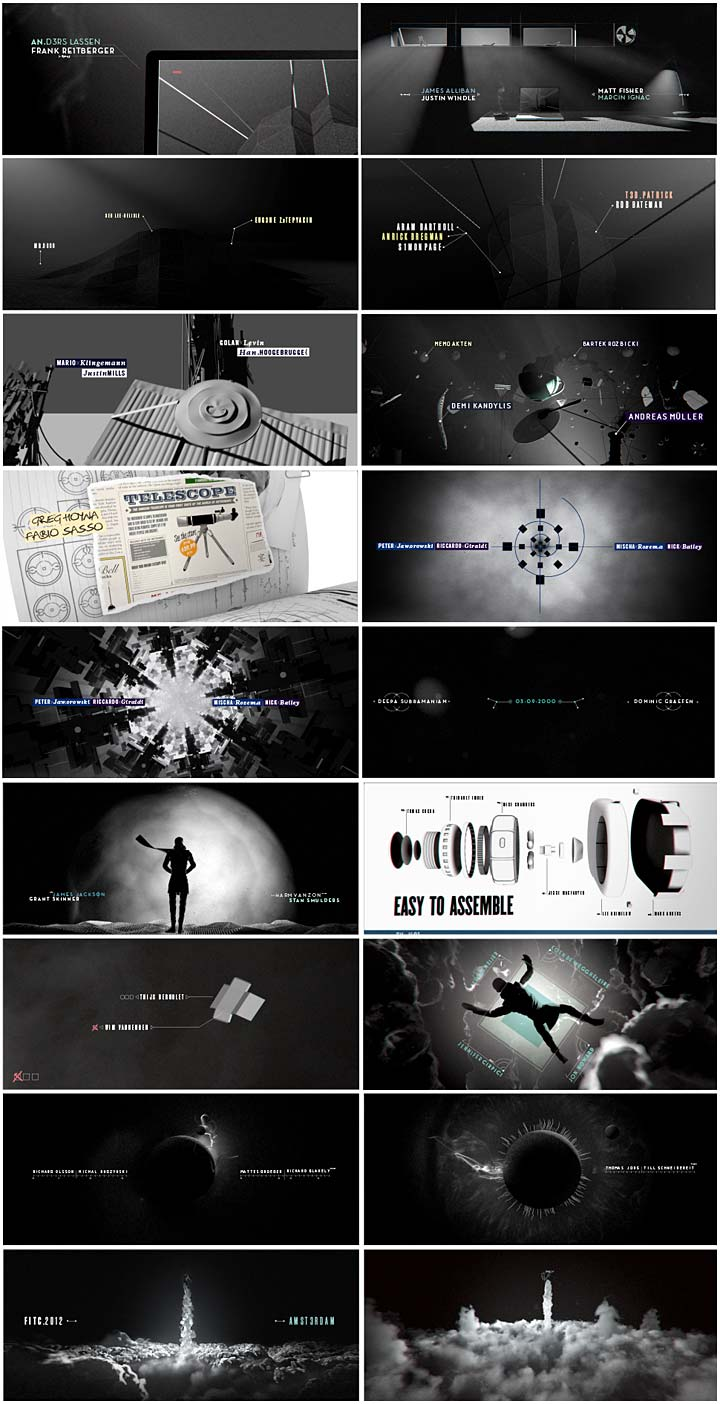 FITC Amsterdam 2012, title sketch board