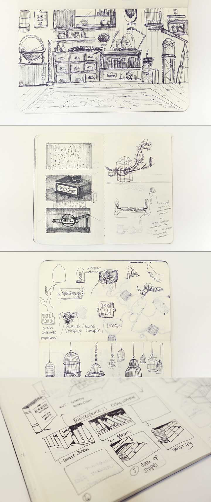 OFFF Barcelona 2013 - Mr. Emilton's Cabinet of Curiosities, sketches