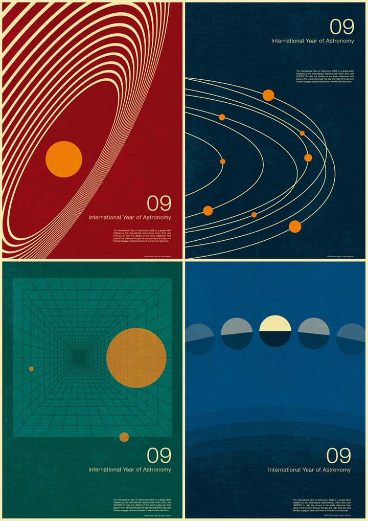 Simon C Page, The International Year Of Astronomy 2009, 4 posters