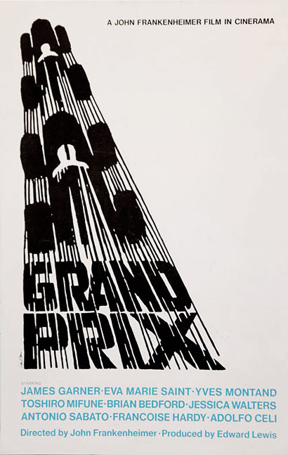 Saul Bass, Grand Prix, Poster, 1966