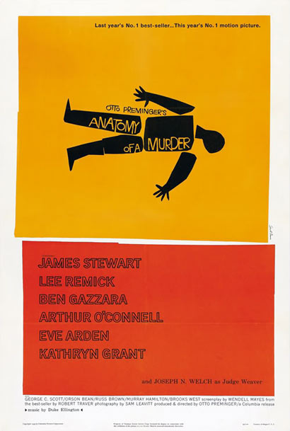 Saul Bass, Anatomy of a Murder, Poster, 1959
