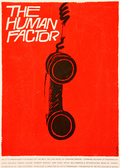Saul Bass, The Human Factor, Poster, 1979