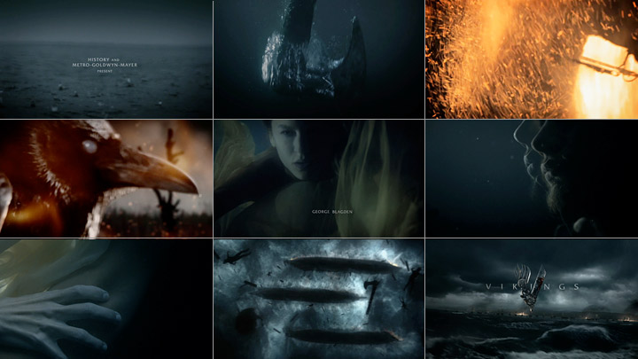 Vikings title sequence by The Mill (stills)