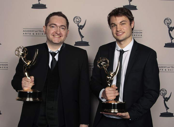 Momoco: Nic Benns, Tom Bromwich at the Emmy's